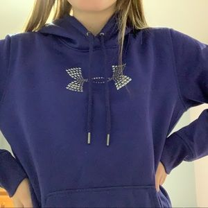 purple under armor sweatshirt